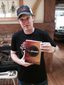 Joe Bonamassa with his copy of Tone Wizards