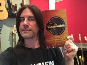 Pete Thorn with his copy of Tone Wizards